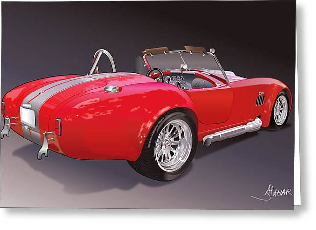 Shelby Cobra Greeting Card by Alain Jamar
