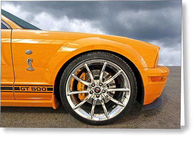 Shelby Gt500 Wheel Greeting Card