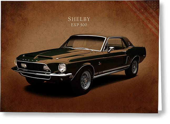 Shelby Mustang Exp 500 Greeting Card by Mark Rogan