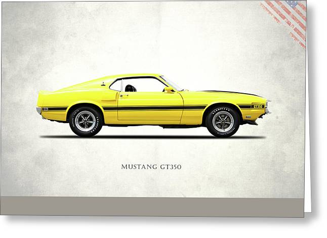 Shelby Mustang Gt350 1969 Greeting Card by Mark Rogan