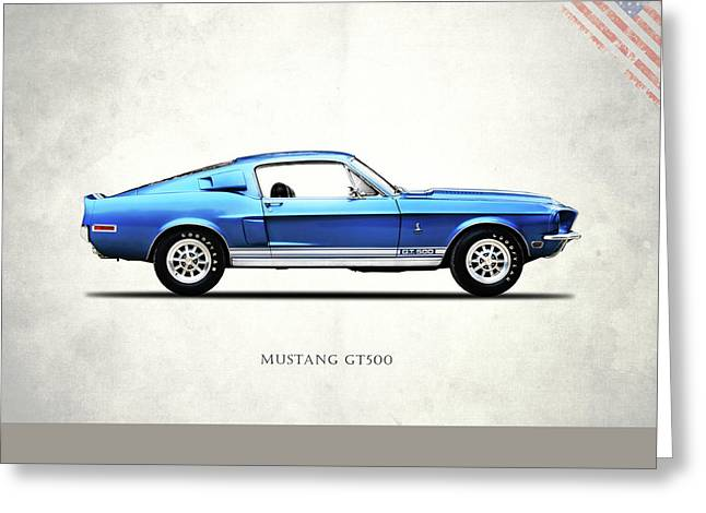 Shelby Mustang Gt500 1968 Greeting Card by Mark Rogan