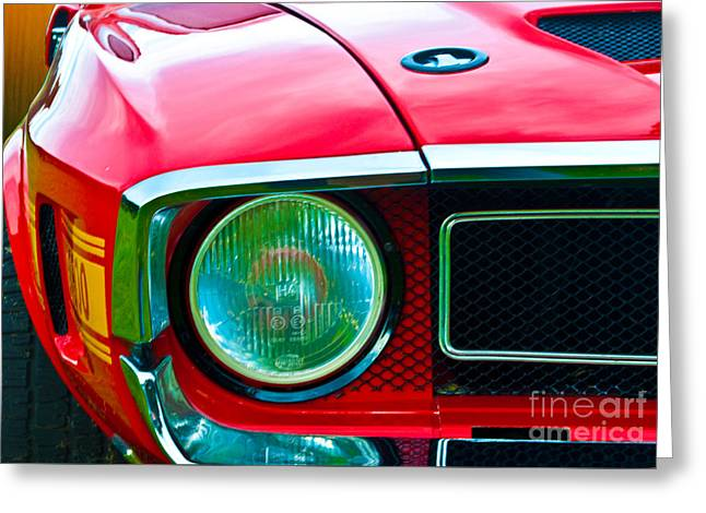Red Shelby Mustang Greeting Card
