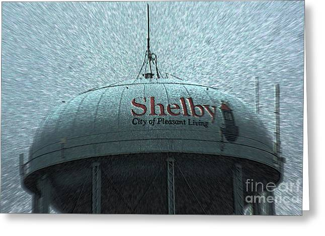 Shelby North Carolina Water Tower Greeting Card by Kim Pate
