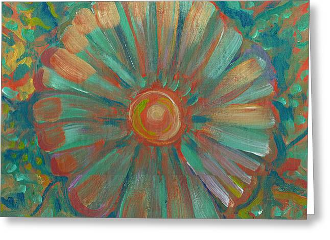 Greeting Card featuring the painting Shell Flower by John Keaton
