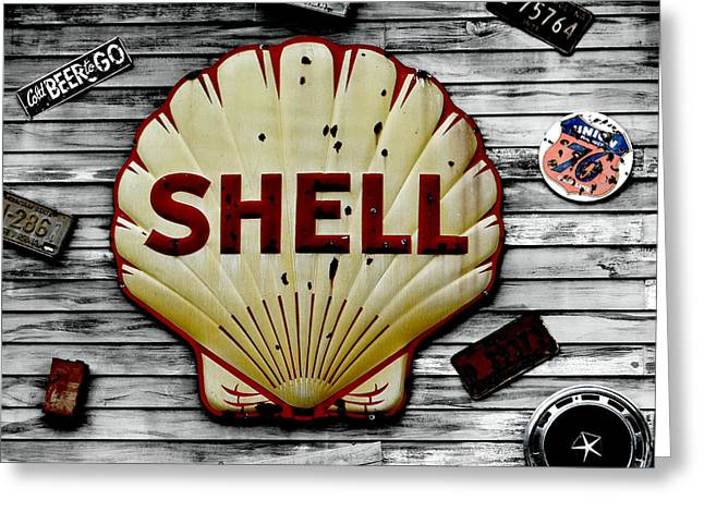 Shell Gas Greeting Card
