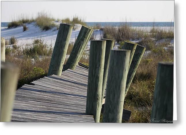 Shell Island Boardwalk Greeting Card