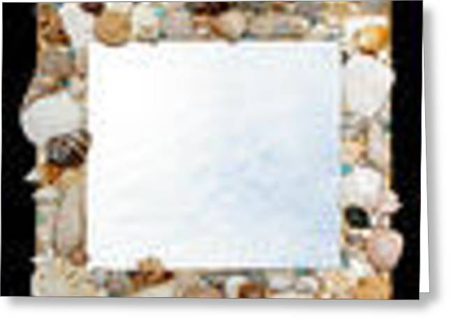 Shell Mirror Greeting Card by Diane Morizio