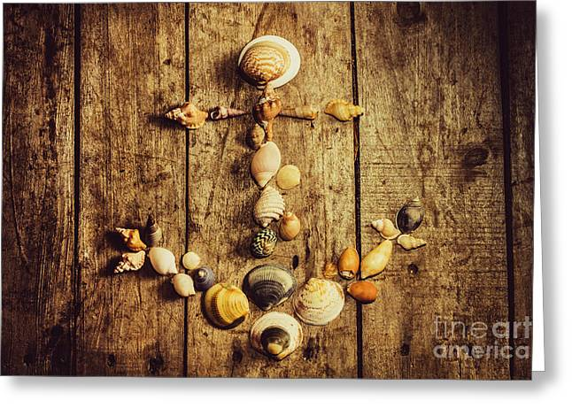 Shell N Anchor Greeting Card by Jorgo Photography - Wall Art Gallery
