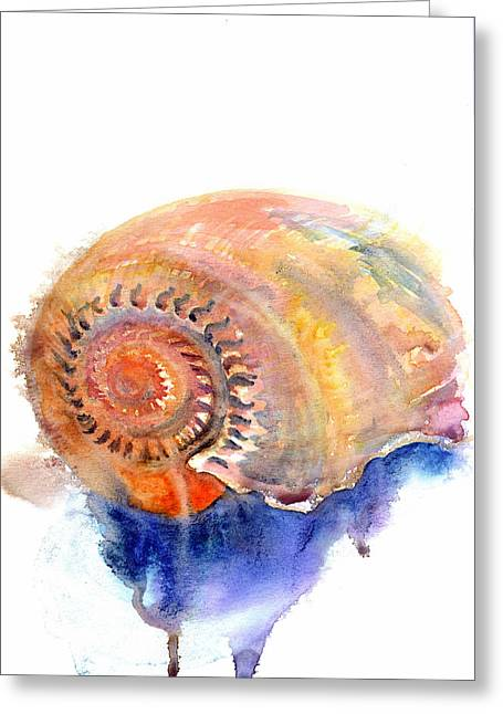 Greeting Card featuring the painting Shell Nose by Ashley Kujan