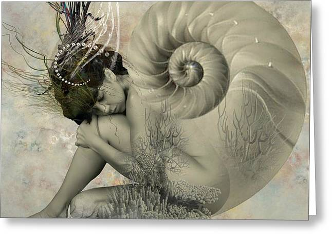 Shell Of Life  Greeting Card by Ali Oppy