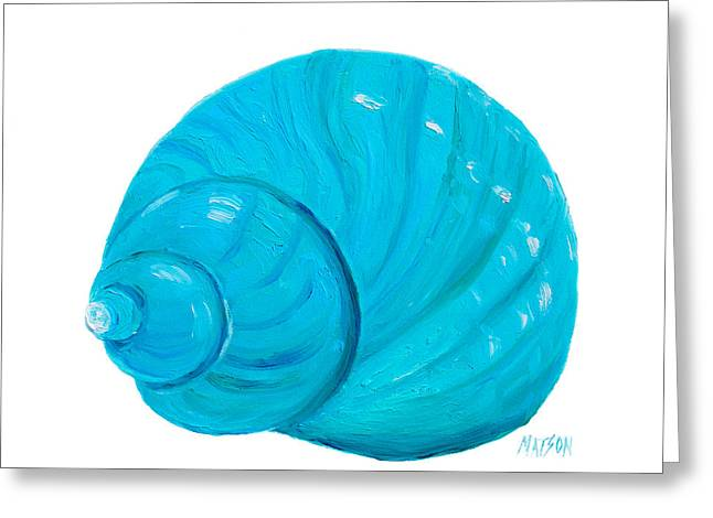 Shell Painting - Bathroom Art Greeting Card by Jan Matson