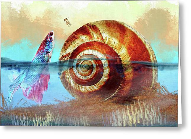 Shell Fish Greeting Card