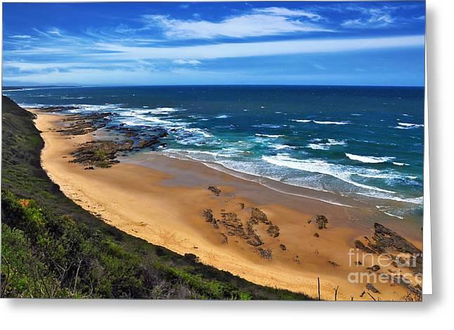 Shelley Beach - Australian Coastline Greeting Card