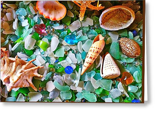 Shells And Glass Greeting Card
