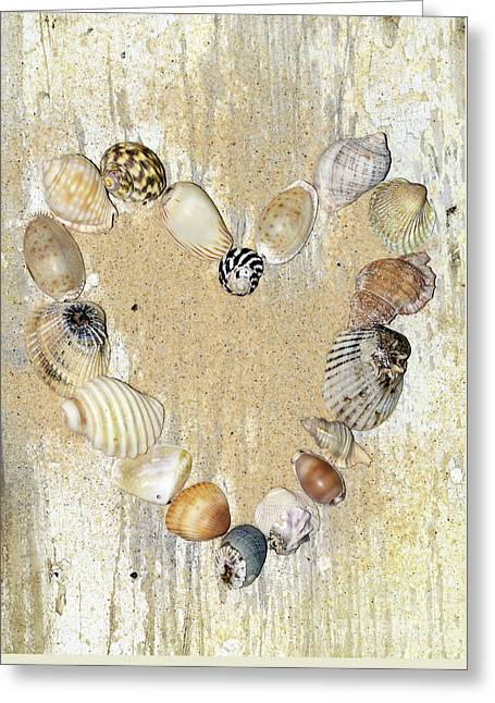 Greeting Card featuring the photograph Shells Of The Heart By Kaye Menner by Kaye Menner