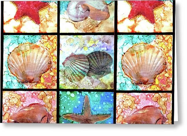 Shells X 9 Greeting Card
