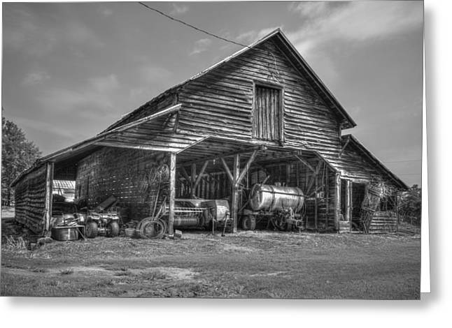 Shelter From The Storm 2 Wrayswood Barn Greeting Card