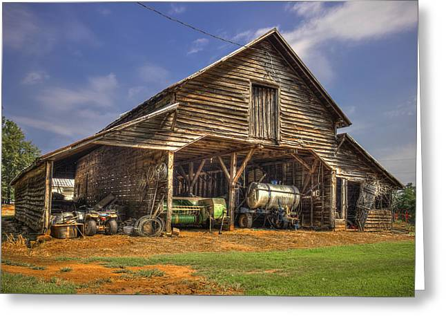 Shelter From The Storm Wrayswood Barn Greeting Card