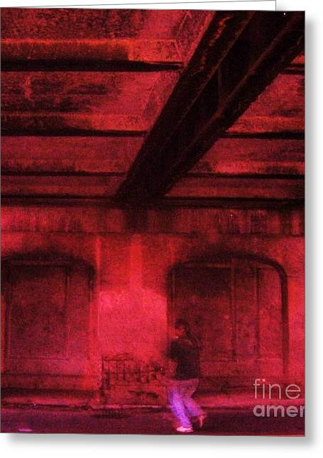 Shelter In The Tunnel Greeting Card by Reb Frost