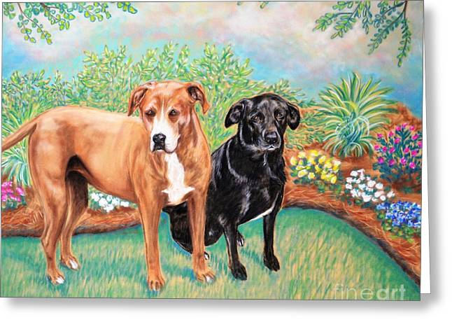 Shelter Rescued And Loved Greeting Card by Patricia L Davidson