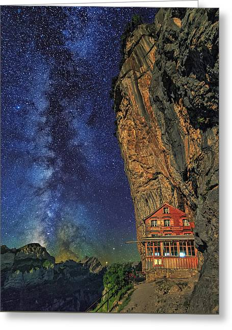 Sheltered From The Vastness Greeting Card