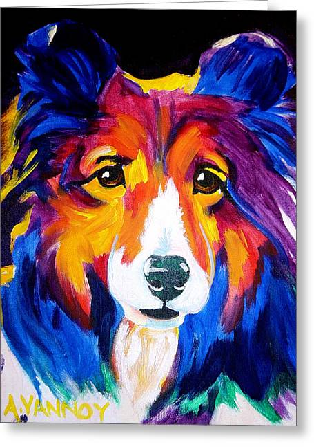 Shetland Dog Greeting Cards - Sheltie - Missy Greeting Card by Alicia VanNoy Call