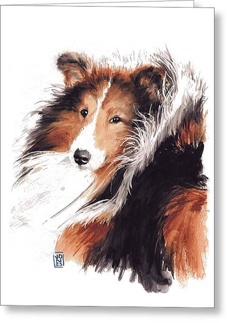 Sheltie Greeting Card by Debra Jones