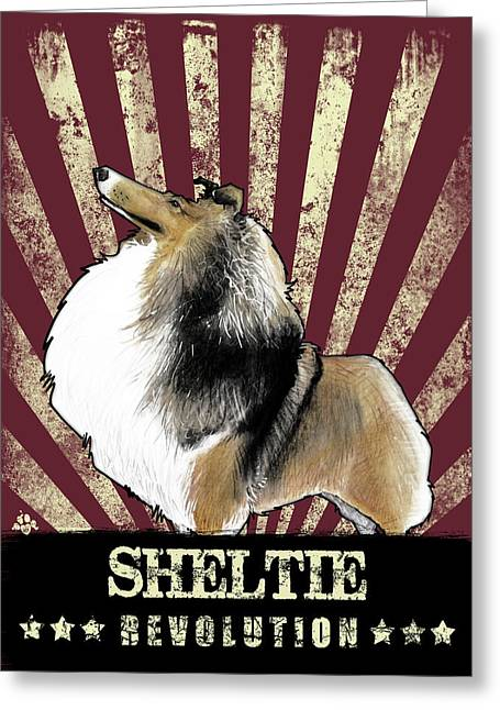 Sheltie Revolution Greeting Card