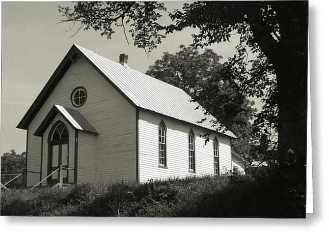 Shenandoah Church Greeting Card by Michael L Kimble