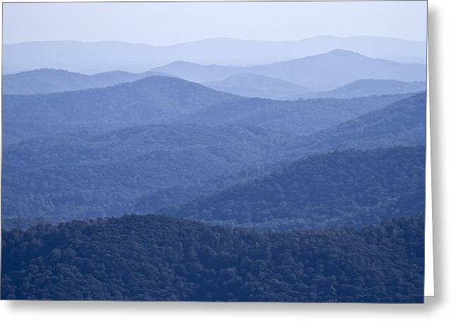 Scenic Drive Photographs Greeting Cards - Shenandoah Mountains Greeting Card by Pierre Leclerc Photography