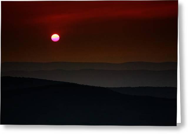 Shenandoah Sunset Greeting Card by Rick Berk