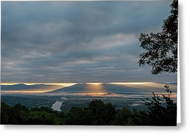 Greeting Card featuring the photograph Shenandoah Valley First Light by Lara Ellis