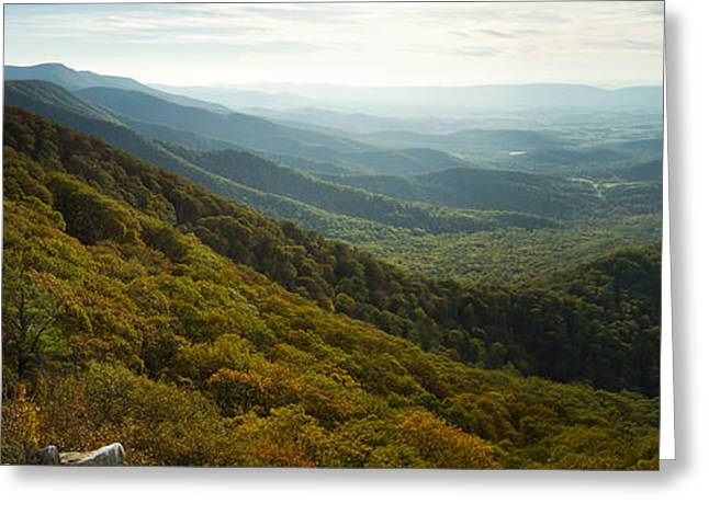 Shenandoah Valley From Marys Rock Greeting Card by Dustin K Ryan