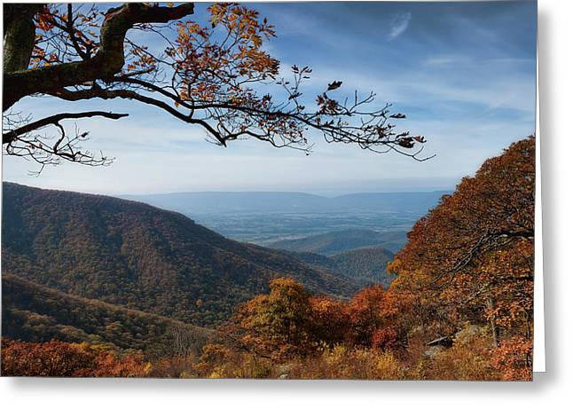 Shenandoah Valley From The Mountain Top Greeting Card by Lara Ellis
