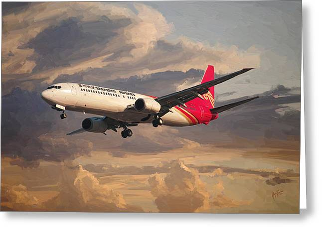 Shenzhen Airlines Boeing 737-900 Landing Greeting Card