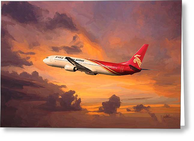 Shenzhen Airlines Enroute Greeting Card by Nop Briex