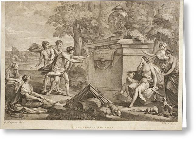 Shepherds In Arcadia Greeting Card by Thomas Kirk