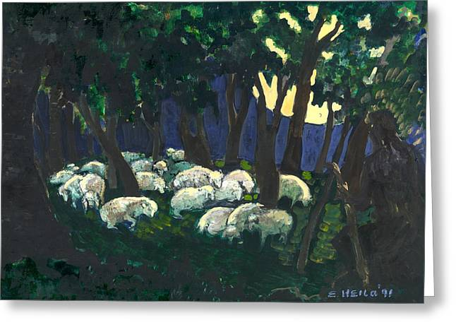 Shepherds Watch Greeting Card by Ethel Vrana