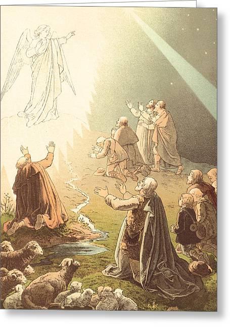 Shepherds Watching Their Sheep Greeting Card