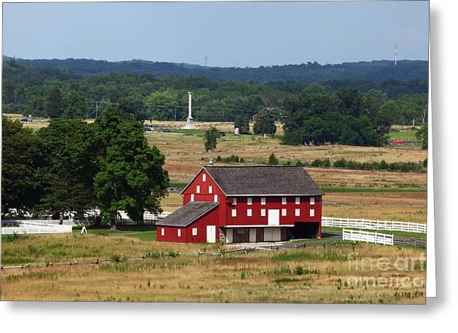 Sherfy Farm Barn Gettysburg Battlefield Greeting Card by James Brunker