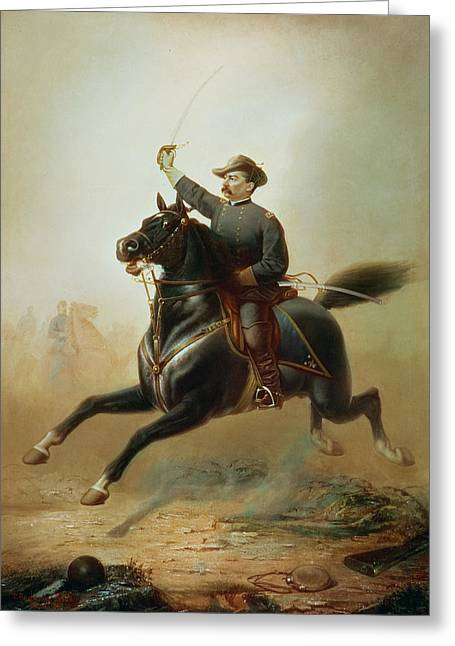 Police Art Greeting Cards - Sheridans Ride Greeting Card by Thomas Buchanan Read
