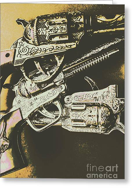 Sheriff Guns Greeting Card by Jorgo Photography - Wall Art Gallery