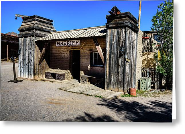 Sheriff Office - Old Tucson Greeting Card by Jon Berghoff