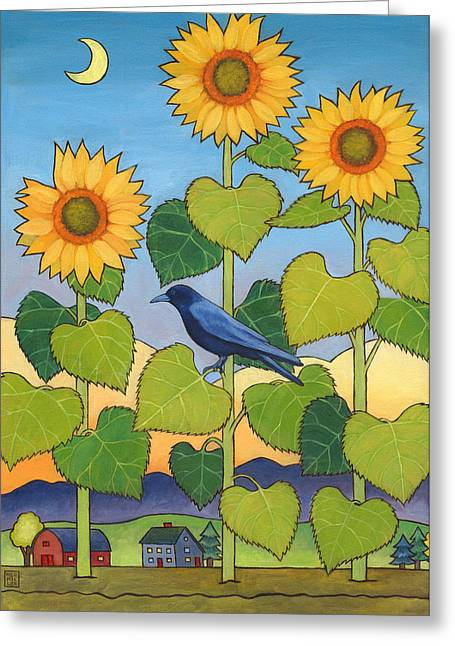 Sheris Sunflowers Greeting Card by Stacey Neumiller