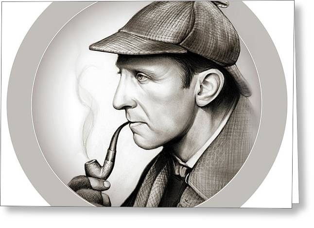 Sherlock Holmes Greeting Card by Greg Joens
