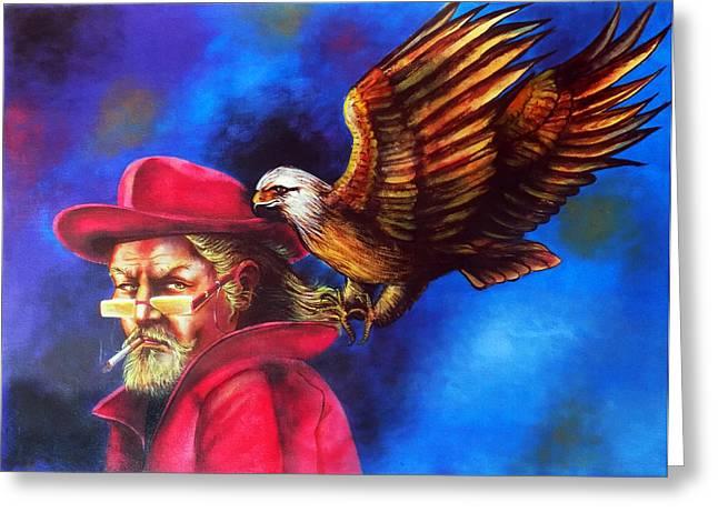 Sherlock Holmes Sharp As An Eagle Greeting Card by Arun Sivaprasad