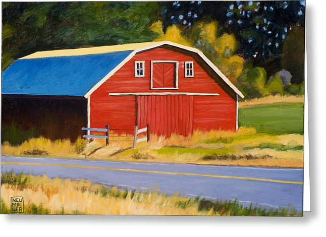 Sherman Barn Greeting Card by Stacey Neumiller