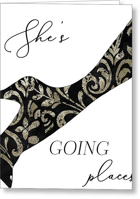 She's Going Places. Greeting Card
