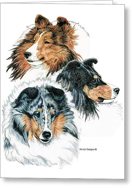 Shetland Sheepdogs Greeting Card by Kathleen Sepulveda