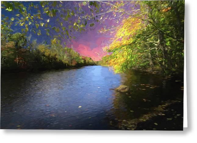 Shetucket River Ct. Greeting Card